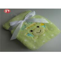 China BSCI Audit -Plain Cute Baby Flannel Fleece Blanket with Patch and Embroidery on sale