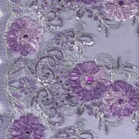 Three-in-one Embroidered Fabric on Stone Mesh