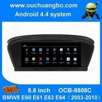 China Ouchuangbo car dvd gps nav stereo android 4.4 BMW5 E60 E61 E63 E64(2003-2010 support HD video bluetooth music on sale