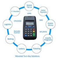 Movotek GPRS Point of Sale Terminal with High-speed Thermal Receipt Printer