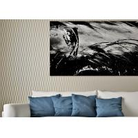 Buy cheap Nonwoven Lounge room Modern Striped Wallpaper Household Wet embossed Eco friendly product
