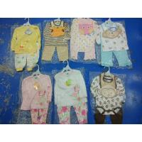 Quality Brand new in stock cotton baby clothes discount infant outfits stock-lot  3 piece sets spring cute clothes for 24M kids for sale