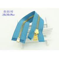 Quality Y Type Teeth Double Open Ended Zips , 12 Inch Heavy Duty Leather Jacket Zippers for sale