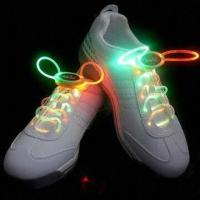China Glow Shoelace, Customized Logos are Accepted, Available in Various LED Colors on sale