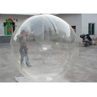 China Clear Transparent PVC 2m Dia Inflatable Aqua Ball / Water Ball With YKK Zipper on sale