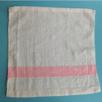 China Solid Color High Quality Pure Cotton Airline Towel Satin Border on sale