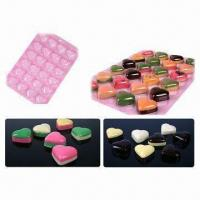 China 18 x 27 x 1.5cm 24 Identical Heart-shaped Chocolate Molds, Made of PET Material on sale