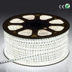 Quality 3528 60 Led High Voltage LED Strip Light , Indoor Bright White LED Rope Light for sale