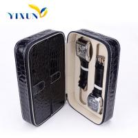 Buy cheap Custom cheap luxury pu leather wooden watch storage box from wholesalers