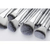 Quality Sliver Color Professional Makeup Brush Set / synthetic hair Cosmetic Brush Set for sale