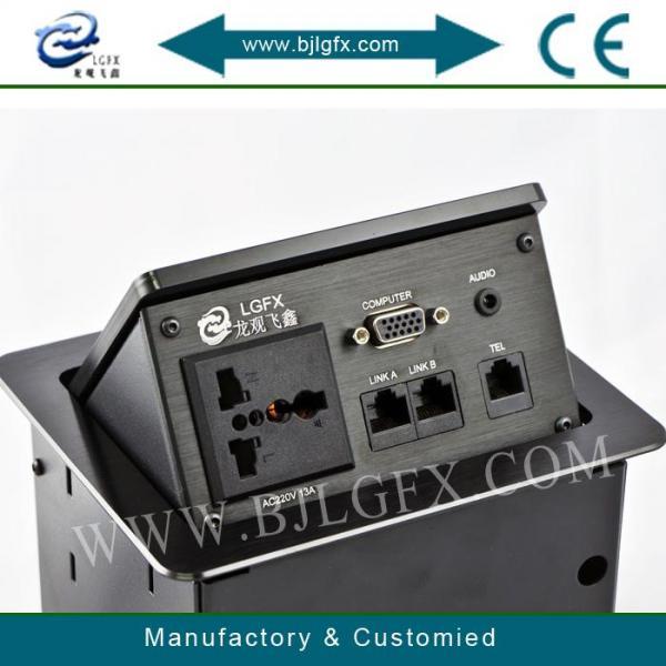 Buy Hidden Connection socket/Hydraulic pop up connectors/ Aluminum Desktop Socket at wholesale prices