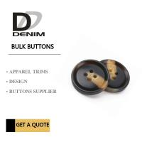 Quality Fashionable Plastic Dress Bulk Buttons Brown & Black DTM Fabric Stock Size for sale
