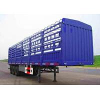 China Double Coin Tyre Fuwa Axle Fence Stake Cargo Truck Trailer High Wall Animal Transport Trailer to Vietnam on sale