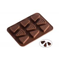 China 9 Cavaties Silicone Chocolate Molds , Ice Cream Shape Chocolate Candy Molds on sale