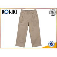 Quality Cotton Material Boys Grey School Trousers Customised Uniforms for sale