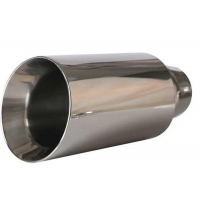 Quality Universal Inlet 70mm 90mm Stainless Steel Muffler Tips for sale