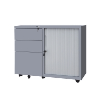 Quality RAL Color Height 620mm Tambour Filing Cabinet for sale
