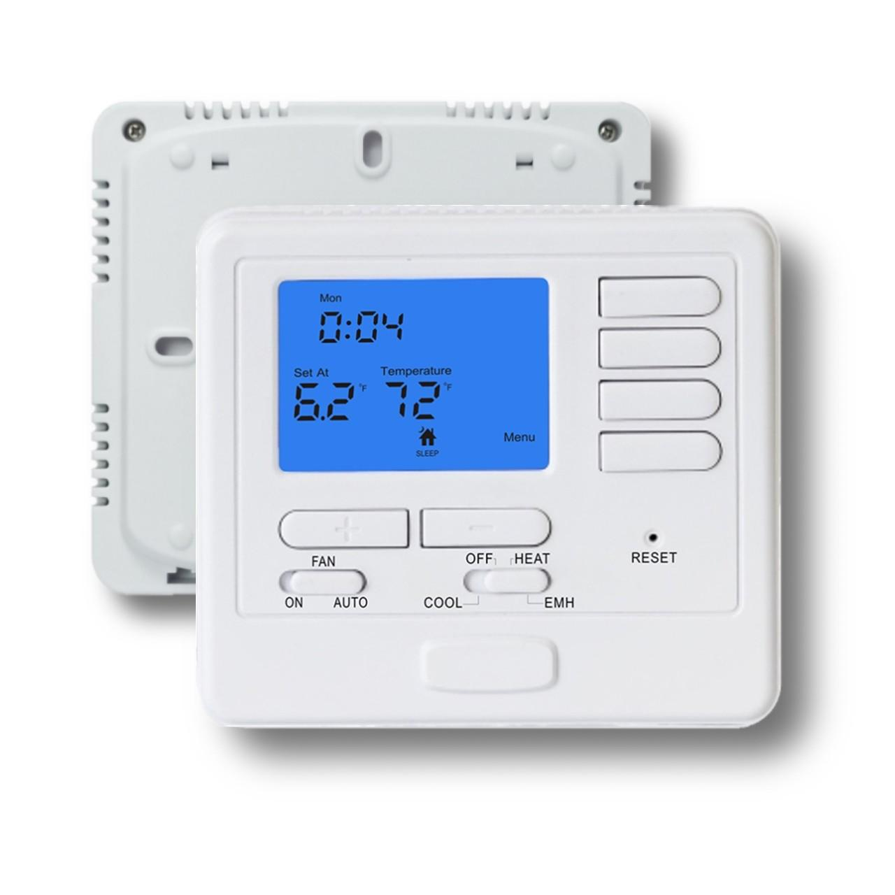 Quality Electronic Heating Multi Stage Indoor White Color Thermostat For AC / Boiler for sale