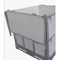 Quality Foldable IBC 1000 Liter Container / Ibc Water Container 1.0mm White Coated Steel Panel for sale