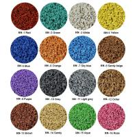 Buy Sulphur Cured EPDM Rubber Granules , Customized Athletic Tracks Coloured Rubber at wholesale prices