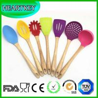 China High quality kitchen utensils 6pcs silicone spoon set , best silicone spatula set on sale