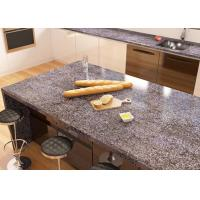 China Montary Stone Vanity Countertops General Red Kitchen Countertop Edges Flat on sale