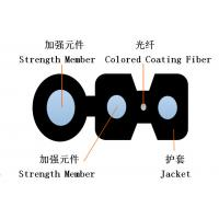 Buy cheap Plastic Self Supporting FTTH Drop Cable GJYXCH GJYXFCH custom Shape product