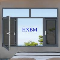Quality Double Glazed Aluminum Casement Windows German hardware With Good Air Tightness And Water Tightness for sale