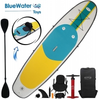 Buy cheap Yellow Green 3 Fin 10'X32''X6'' Inflatable Surf Boards from wholesalers