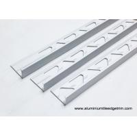 Quality 10mm 3/8 In. Depth L Angle Aluminium Tile Edge Trim With Matt Silver for sale