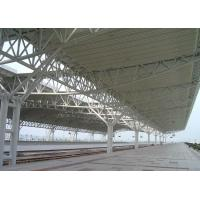 China Professional Steel Pipe Trusses Railway Station Stand Shed Painted Or Galvanized on sale