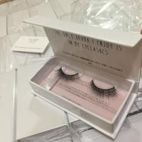 China Cheap eyelash synthetic silk PBT/PET material tip mellow lashes gift flat box on sale