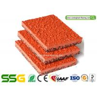 Quality Modified PU Mixed EPDM Granules Athletics Running Track Flooring Environmental - Friendly for sale