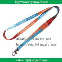 Quality 10mm Dye Sublimation Print Custom Made Lanyard and ID Tag for sale