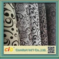 Quality 145cm Wide Funitures Sofa Upholstery Fabric ,  Flock Velvet Upholstery Fabric for sale