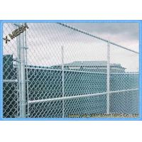 Quality 5 Ft Metallic Coatings Hot Dipped Galvanized Chain Link Fence Fabrics For Rural SGS Listed for sale