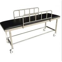 Quality Patient Transport Stretchers / Ambulance Trolley Bed With Side Rails And PU Foam for sale
