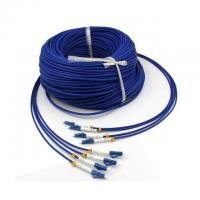 Quality Military Tactical 4 Strand Fiber Optic Cable 200m Single Mode LC Armored for sale