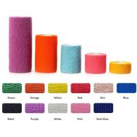 Quality Water resistant best quality beautiful cohesive vet bandages, Medical surgical consumables vet colored elastic wrap cust for sale