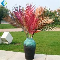 Plastic Artificial Coconut Palm Leaves For Garden Landscaping Decoration for sale