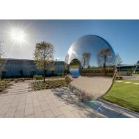 Buy Morden Highly Polished Stainless Steel Sculpture Torus For Lawn Featuring at wholesale prices