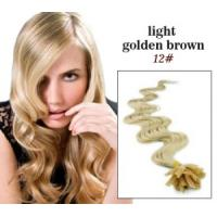 """Quality 32"""" Custom Human Hair Wigs ,  Golden U - Tip 100% Remy Real Pre Bonded Hair Extension for sale"""