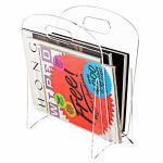 Quality Freestanding Modern Clear Acrylic Magazine Holder Display Stand / File Folder Storage Organizer Rack for sale