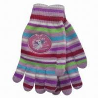 Quality Men's/Women's/Children's Magic Gloves with Print Logo, Made of 100% Acrylic for sale