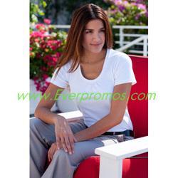 China Port Authority® Ladies Silk Touch™ Interlock Scoop Neck Shirt on sale