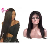China Silky Straight Full Lace Remy Human Hair Wigs With Ladies Baby Hair Medium Brown on sale
