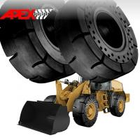 Quality APEX Wheel Loader Solid Tire for Caterpillar Vehicle  15.5-25, 17.5-25, 20.5-25, 23.5-25, 26.5-25, 29.5-25, 35/65-33 for sale