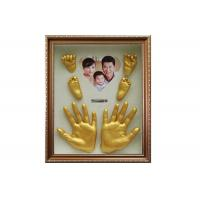 Quality Customized Memory Keepsake Box , 3D Baby Hand And Footprint Frame DIY Newborn Gift for sale