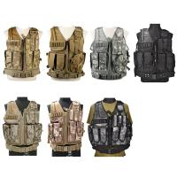 Quality Camo Light Weight Paintball Tactical Vest , Police Military Army Airsoft Vest for sale