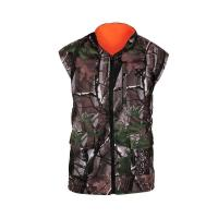 Quality Outdoor Wear Hunting Shooting Vest Reversable Vest Camo Blaze Orange Fleece Game Fishing for sale